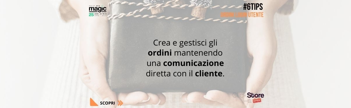 ecommerce gestione utente